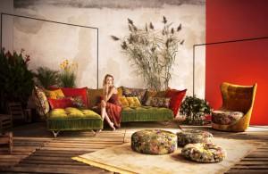 Bretz sofa grün rot