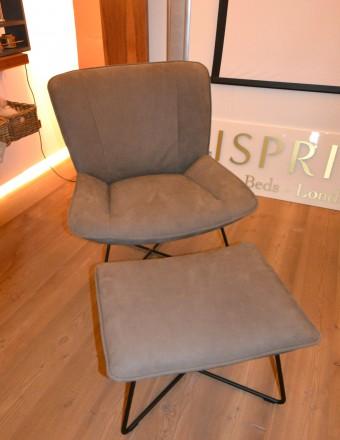 Rolf Benz_SE 383 Stuhlsessel mit Hocker