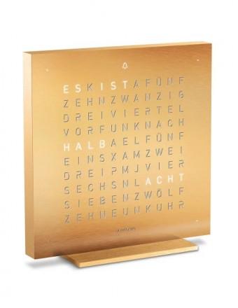 Qlocktwo_Touch Tischuhr Silber & gold